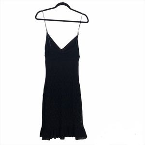 COSABELLA Made In Italy Bodycon Black Lace Slip Dress -Large